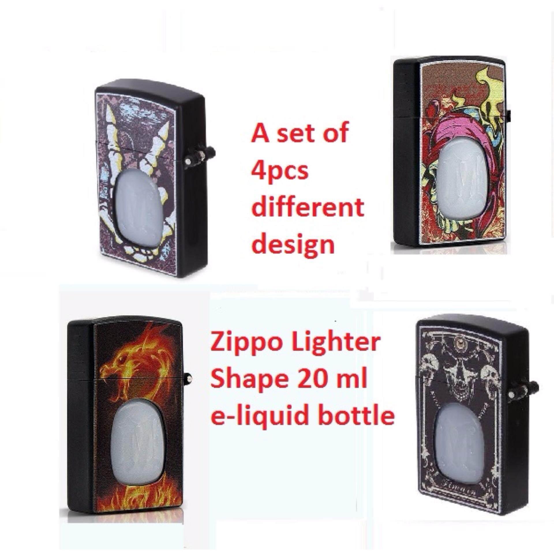Zippo Lighter Shape E-Liquid Bottle 20ml (4pcs set)