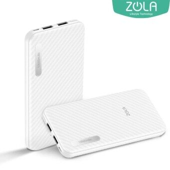 Zola Lunna 10500mAh 2.1A 2 USB Port Fast Charging Powerbank – White (Zola Malaysia Warranty)