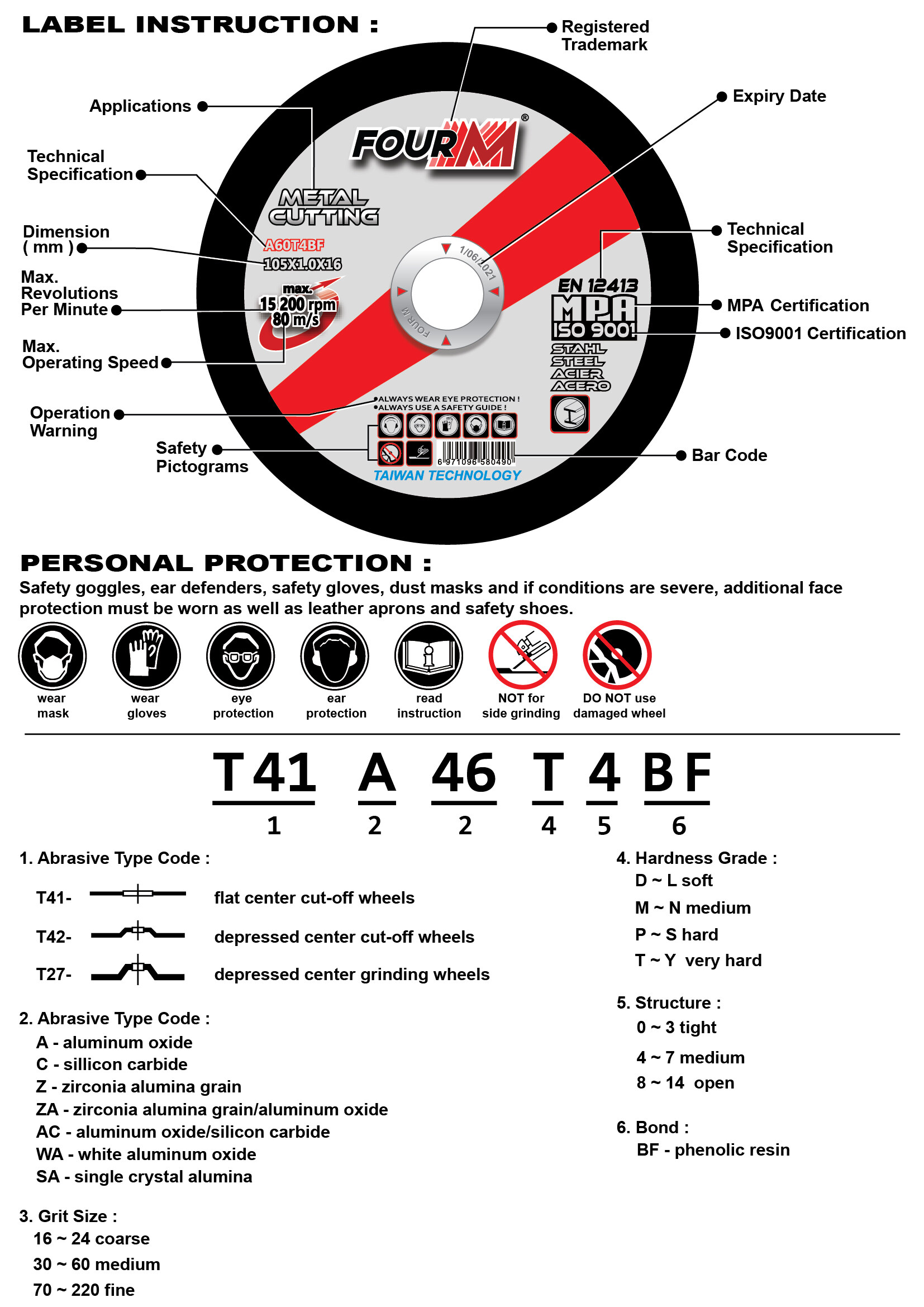 iso 9001 certificate safety protection bar sander speed ring heavy duty metal cutting disc high press cut off saw holder hold holding stainless steel grinder grinding wheel roll roller rolling tool handle blade plate power cutter drilling milling slicer