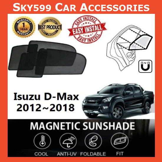 Isuzu D-Max 2012-2018 Magnetic Sunshade ?4pcs?