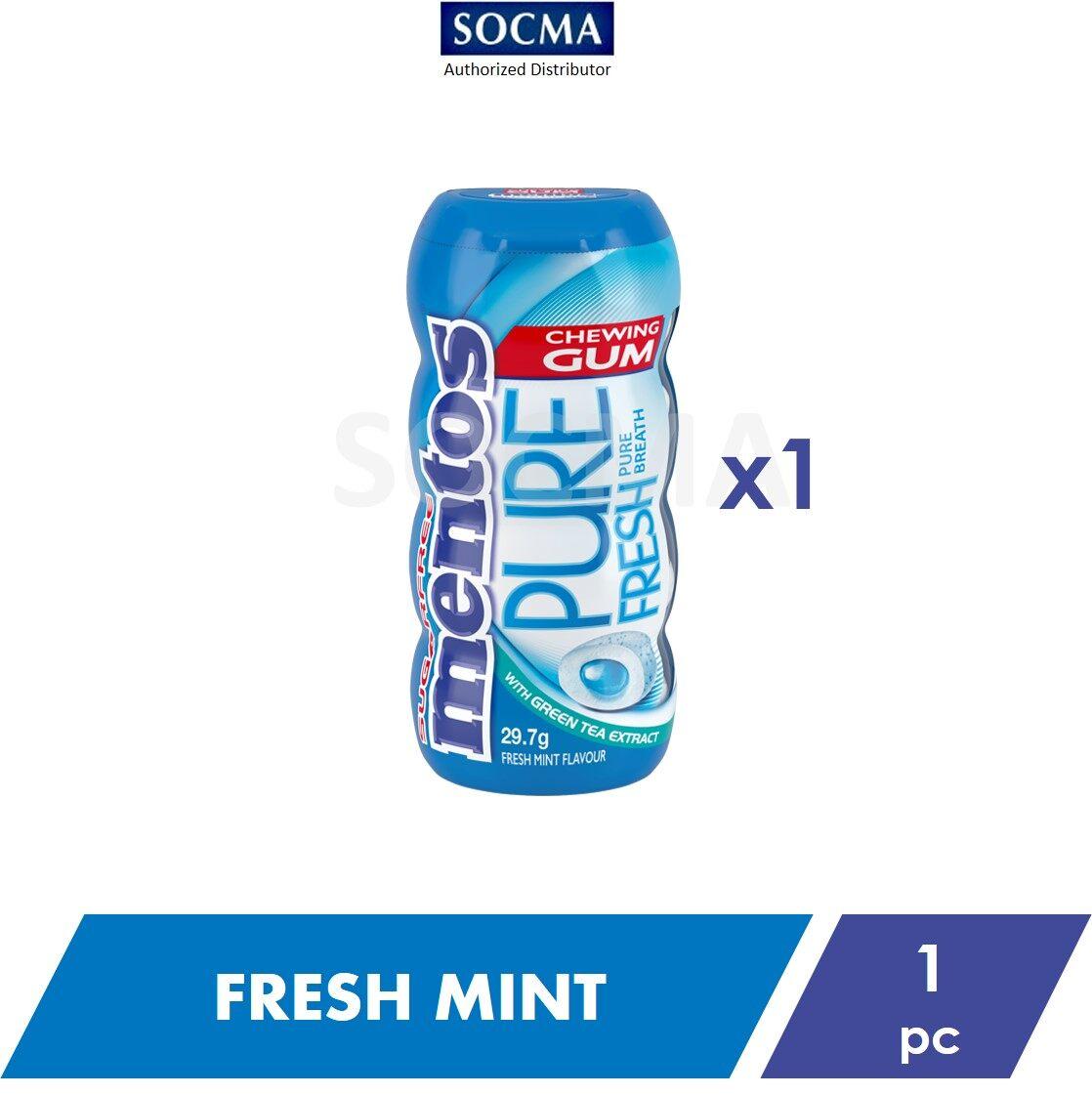 Mentos Pure Fresh Pocket Bottle Gum Fresh Mint 29g [1]