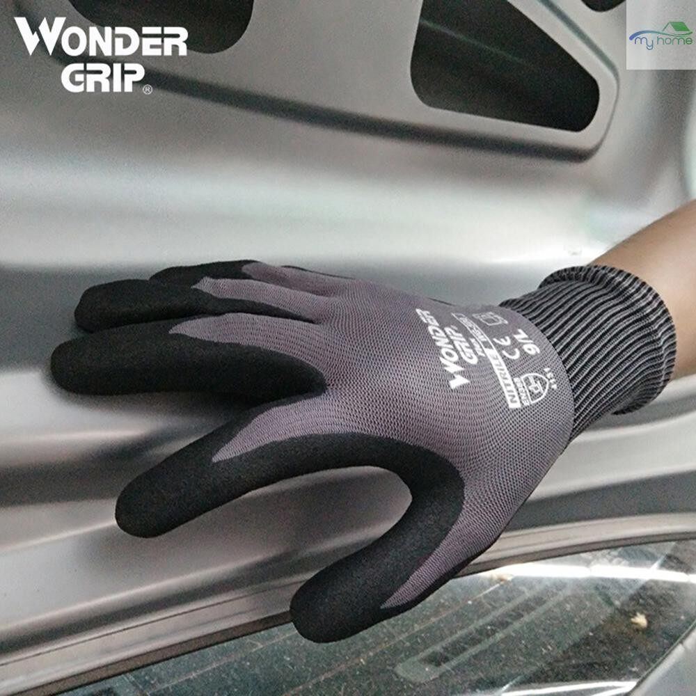 Protective Clothing & Equipment - Wonder Grip Garden Safety Glove Nylon With Nitrile Sandy Coated Work Glove Abrasion-proof Universal - XL / L / M / S