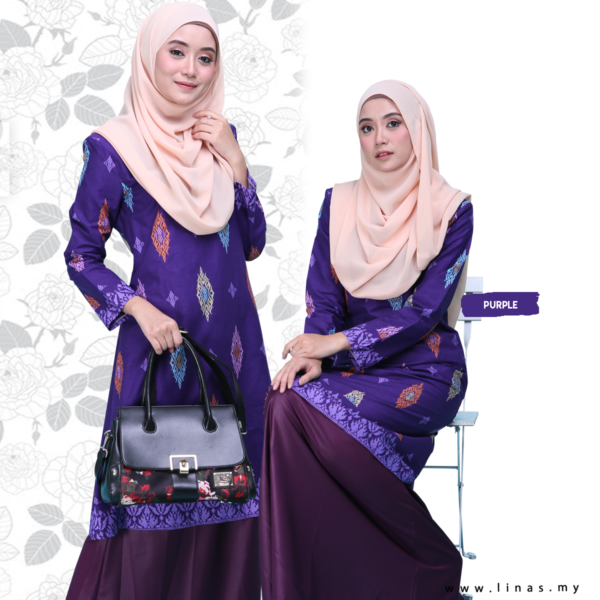 Kurung Riau Ammara / Moden Stylish Kurung Songlet / Casual Wear / Office Wear