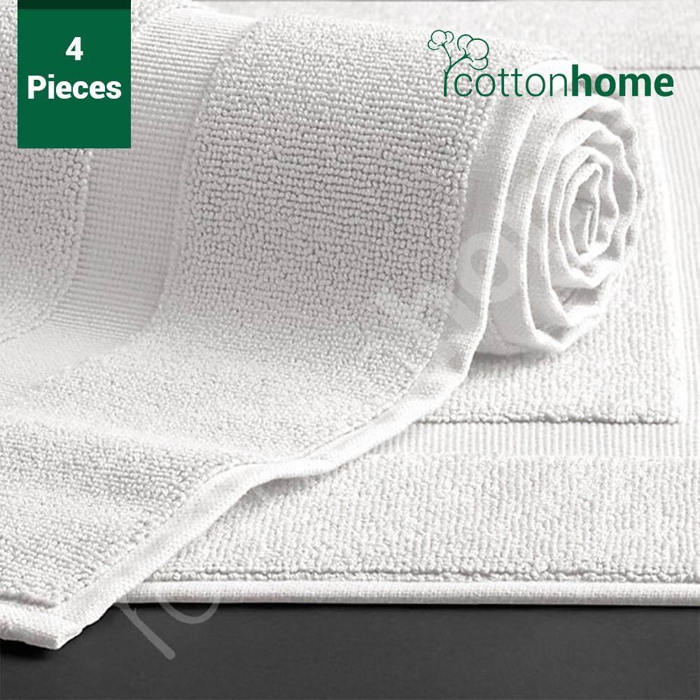 Hotel Quality Bath Mat: 4-Pcs: Full Size: 300 gms per pcs. 100% Combed Yarn