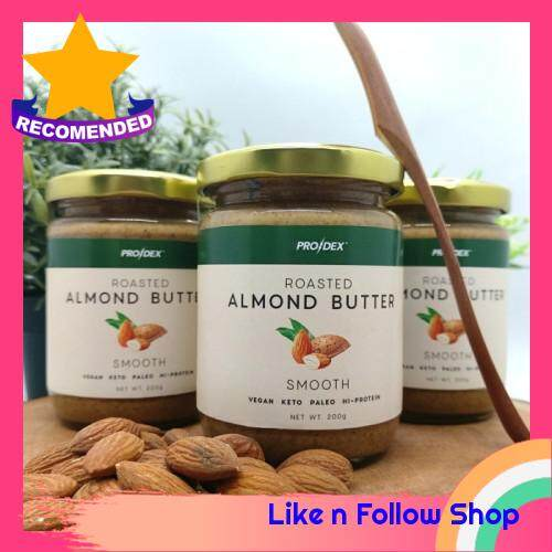 [ Ready Local Stock ] Prodex Roasted Almond Butter 200g Smooth - 100% Pure Natural Diet Healthy Mentega Badam Semulajadi Sihat