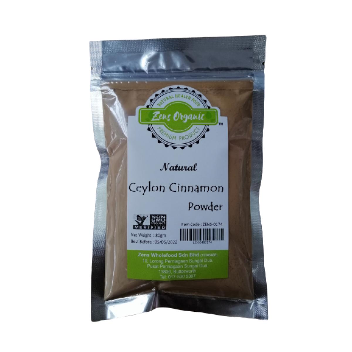 Zens Organic Natural Ceylon Cinnamon Powder 80g