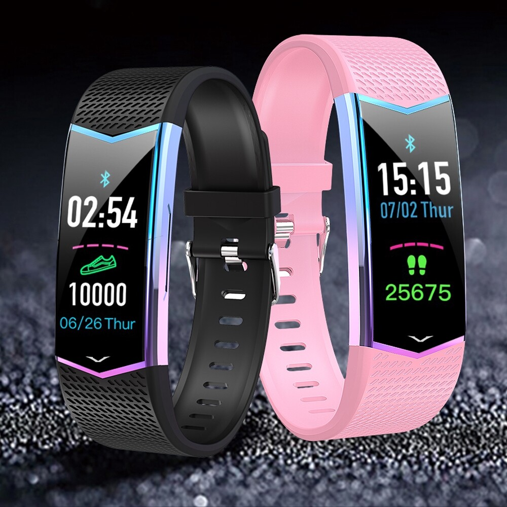Smart Watch - LV08 Gradient Design Color Screen Wristband 24 Hours Monitor Smart Watch - BLACK / GREEN / PINK