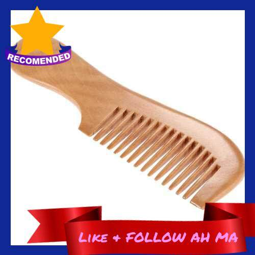 Best Selling 1 Pc Wooden Comb Popular Natural Health Care Hair Comb Anti-static Comb Wood Hairbrush With Handle Massage Comb Hair Care (Standard)