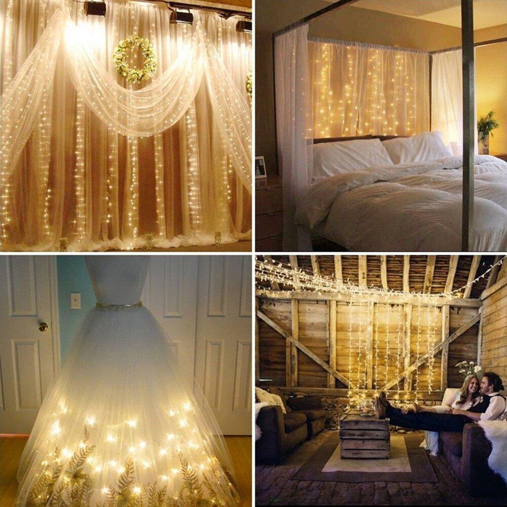 Lighting - 200LEDs String Light 6w 23 meters/75.5 ft IP44 Water Resistance Ei - Home & Living