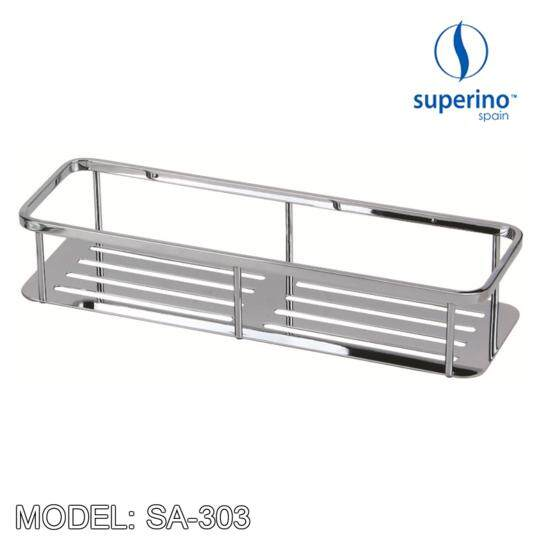 SUPERINO SA 303 STAINLESS STEEL RECTANGULAR TRAY 12""