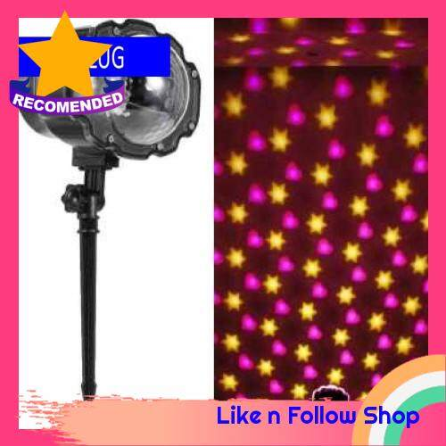 Projection Lights Animated Led Projector Multicolor Hexagon and Heart Lights Decorative Lighting for Holiday Party Home Yard Garden UK (4Uk)