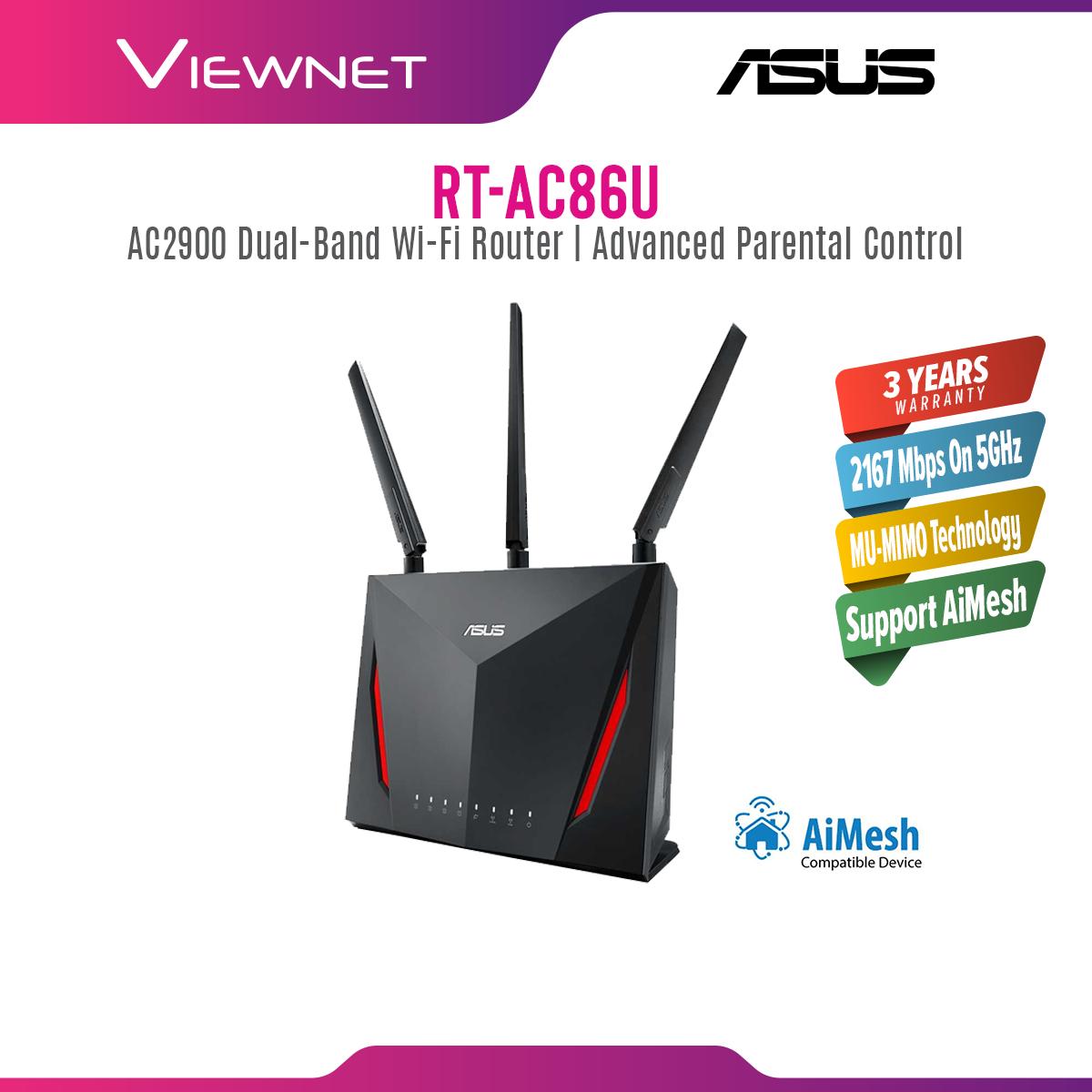 Asus RT-AC86U AC2900 AI Mesh Dual Band Gigabit WiFi Gaming Router