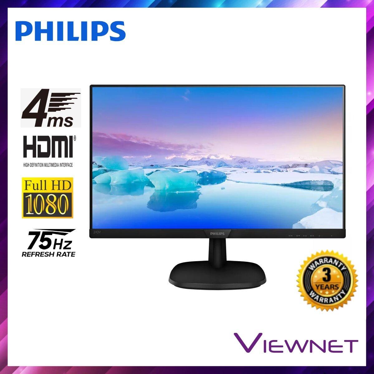 Philips 243V7QDAB / 69 24'' 4ms LED Flat Monitor With VGA/DVI/HDMI & VESA