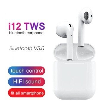 I12 tws Bluetooth Headset Earphone 5.0 Sports Wireless Headsets Binaural earphones Touch control Earbuds 3D