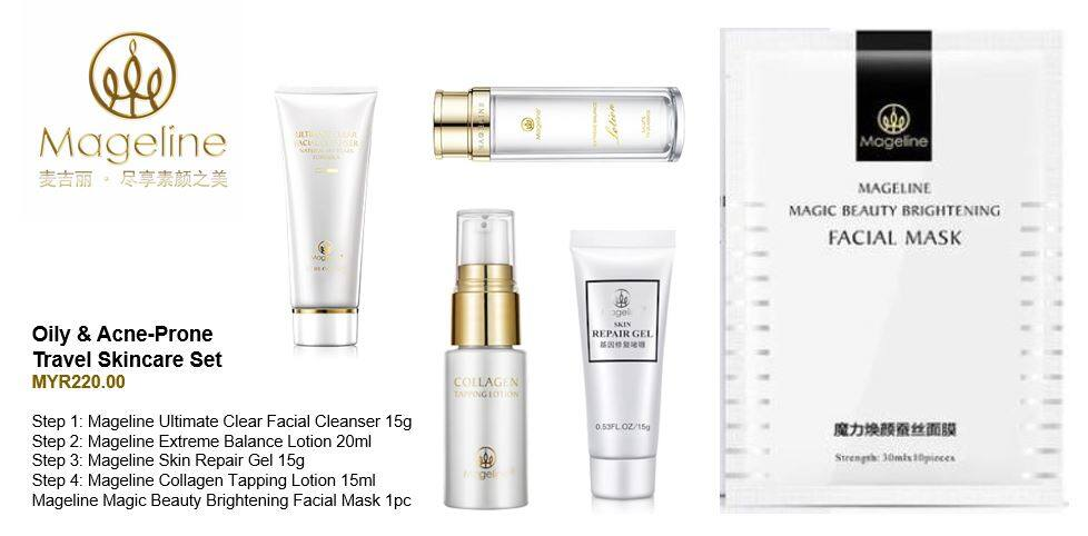 Mageline Oily & Acne-Prone Skincare Travel Set