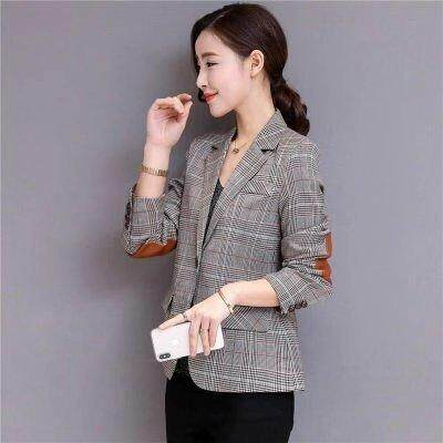 (Pre Order14 Days  JYS Fashion Korean Style Women Blazer dBlazerCollection 515-17863col515-17863--Plaid-M
