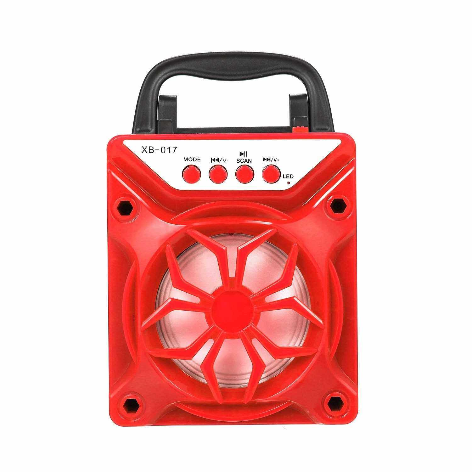 Portable BT Outdoor Speaker Support TF Card Square Dance Audio (Red) (Red)