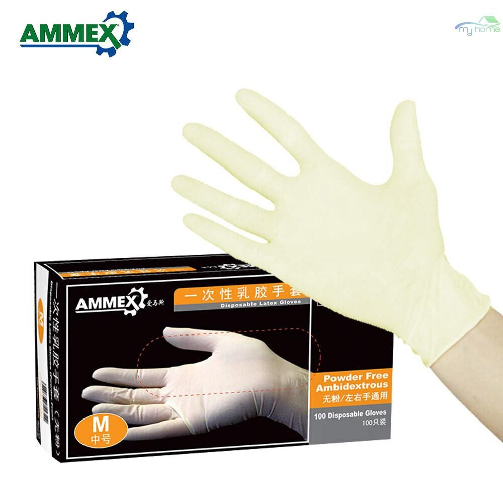 Protective Clothing & Equipment - Disposable Latex Gloves Thicken Rubber Gloves Multifunctional Home Food Medical Gloves - L / M / S