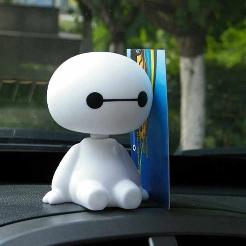 Best Selling Cute Baymax Robot Shaking Head Doll for Car/Home/Office Interior Decorations