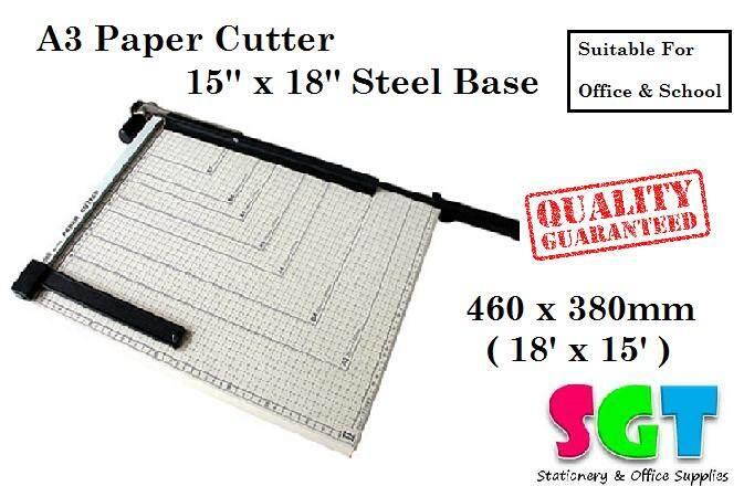 A3 Paper Cutter 15'' x 18'' Steel Base (829-2)