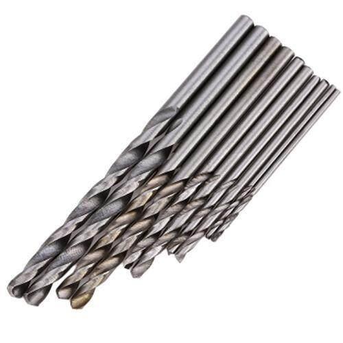 1MM - 3MM 11PCS HIGH SPEED STEEL HAND TWIST DRILL ROTARY TOOL (BLACK)