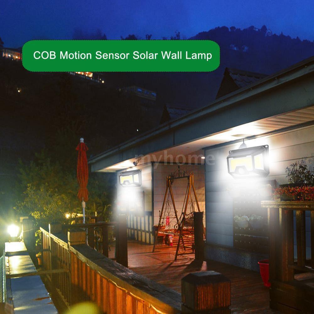 Outdoor Lighting - 154COB LED Light Source PIR Motion Sensor Wall Lamp Solar Powered Lights Outdoor Water Resistant - #