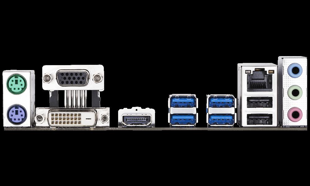 GIGABYTE Mainboard AMD AM4 A320M-S2H V2, Ultra Durable  XMP READY  NVME PCIE 22110 M.2 (GA-A320M-S2H V2)