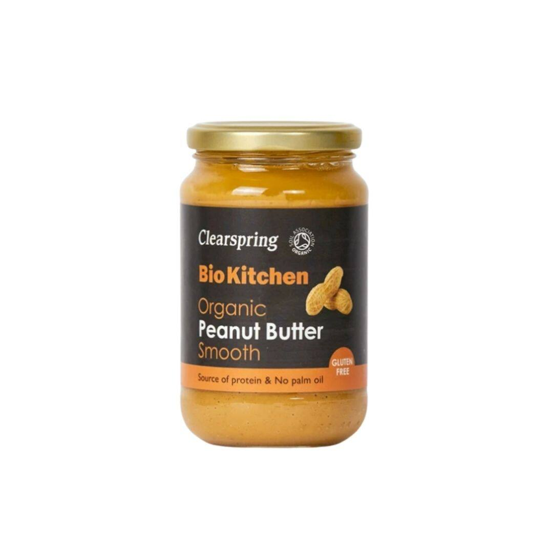 Clearspring Bio Kithchen Organic Peanut Butter Smooth 350g x2 - TWIN PACK