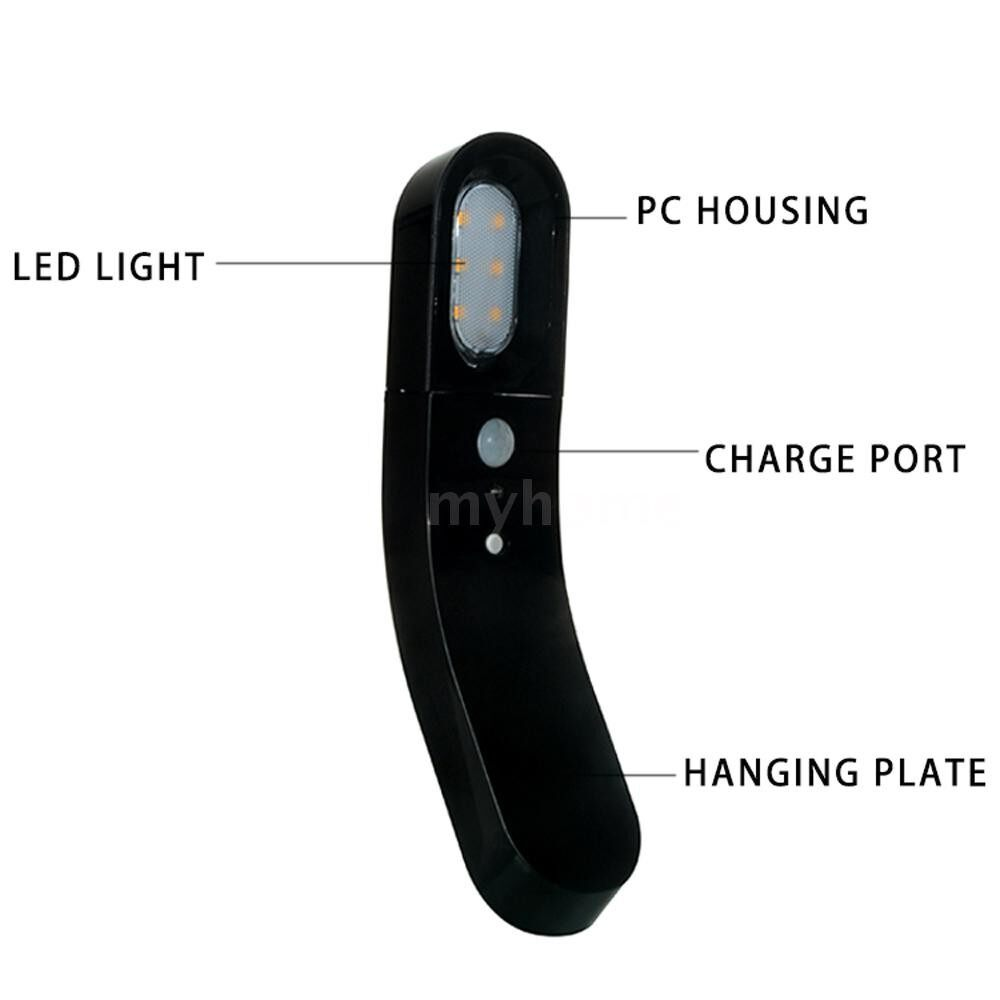 Lighting - PORTABLE Modern LED Wall Lamps Bedside Lamp Night Light USB Charging Motion Sensor Human Body - BLACK-2 / WHITE-2 / WHITE-1 / BLACK-1
