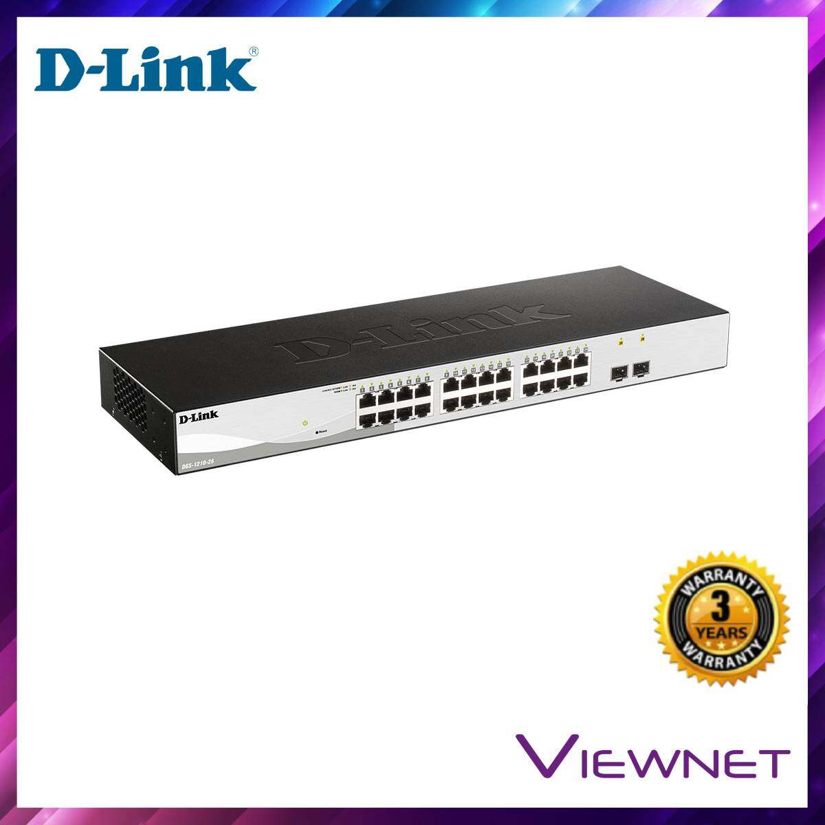 D-Link GGB 24-Port + 2-Port SFP Smart Switch (DGS-1210-26)