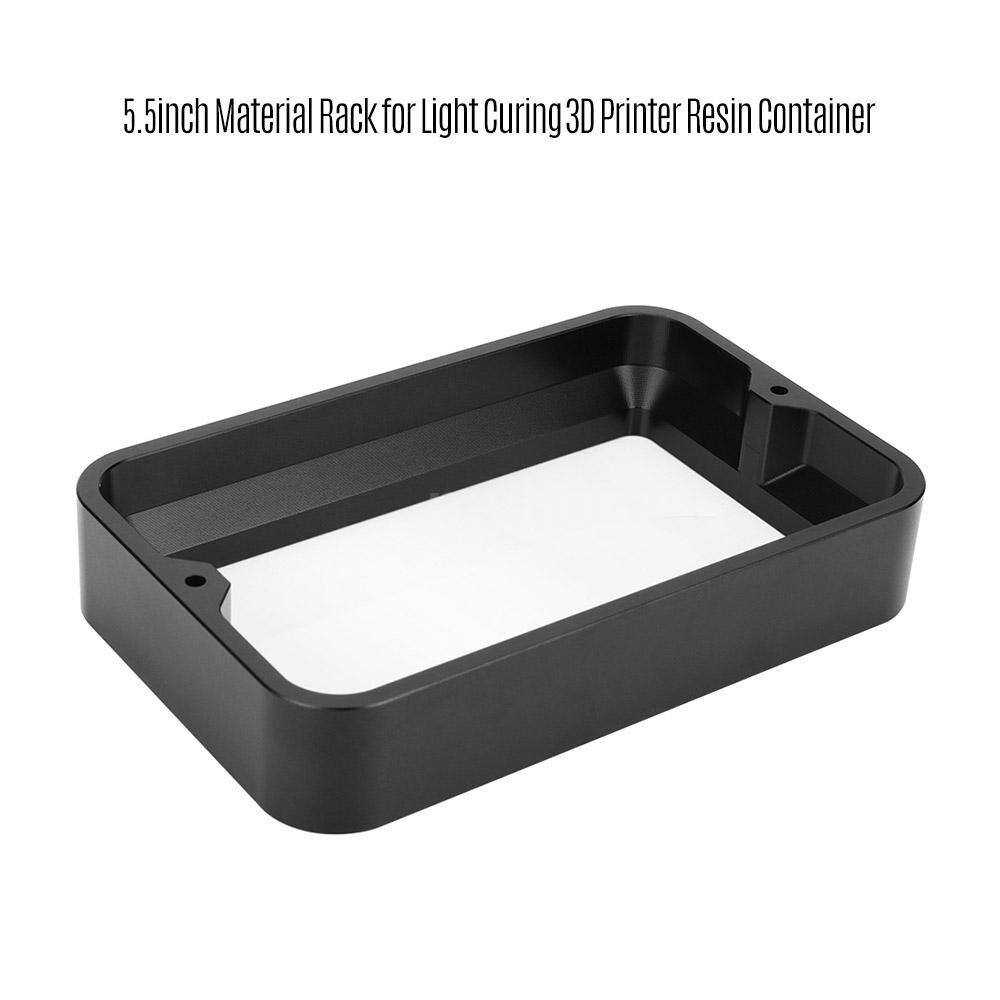 Printers & Projectors - 3D Printer Accessories 5.5inch Material Rack Full Metal for Light Curing Printer Resin Container - BLACK