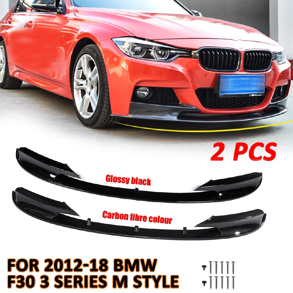 Engine Parts - Front Bumper Cover Lip Carbon Fiber Surface For 2012-18 BMW F30 3 Series M Style 2015happydeal - Car Replacement
