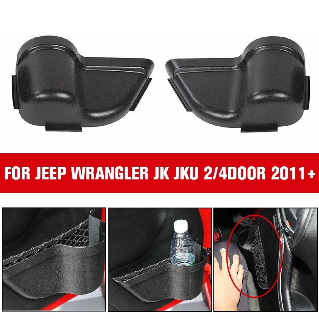 Car Accessories - for Jeep Wrangler JK JKU 2/4Door 2011+ Upgraded Front Door Storage Organizer Box - Automotive