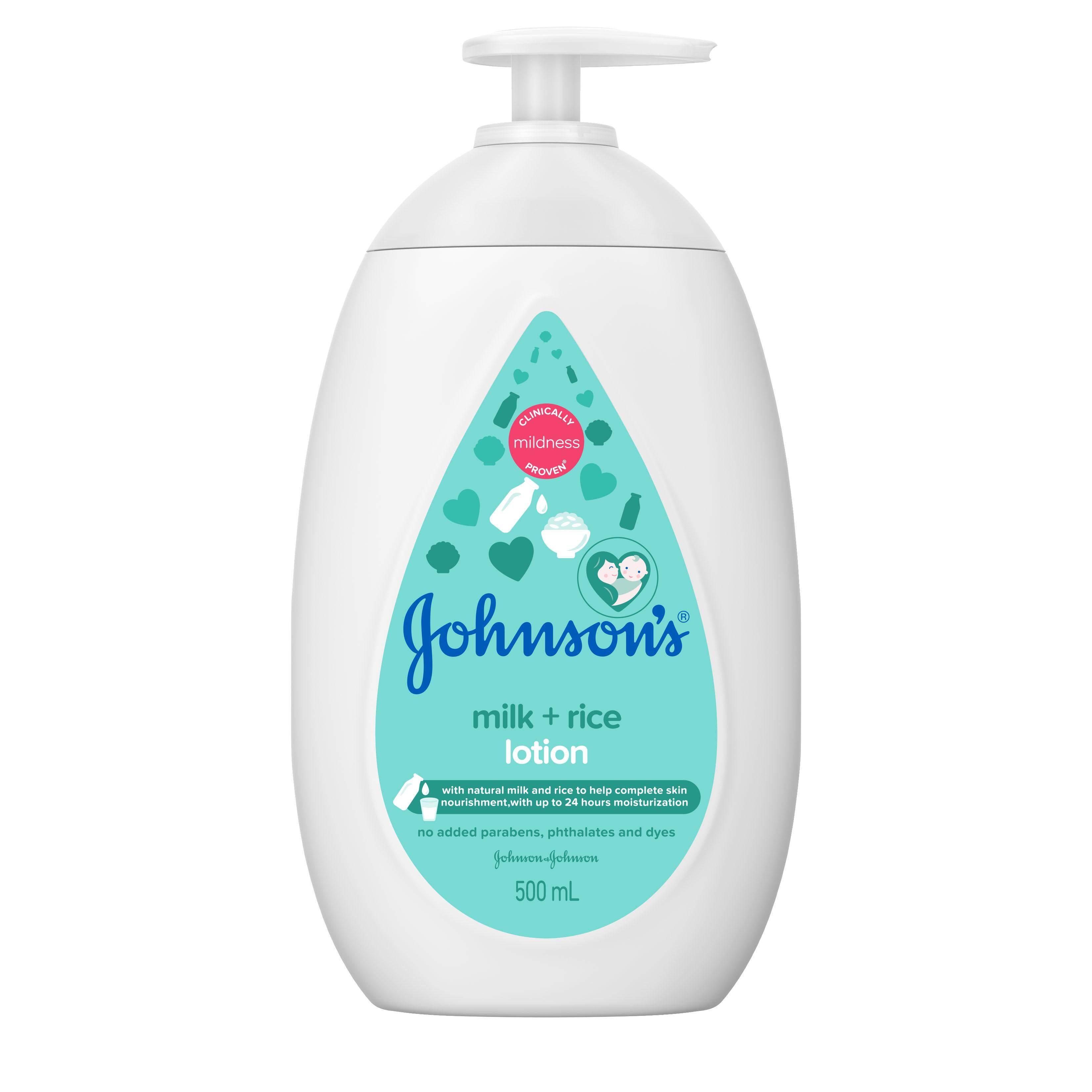 Johnson's Baby Lotion Milk + Rice 500ml