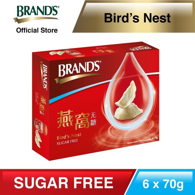 [Metabolism Booster] BRAND'S Bird's Nest Sugar Free Single Pack 6 bottles x70gm [EXPIRY OCT 2021]