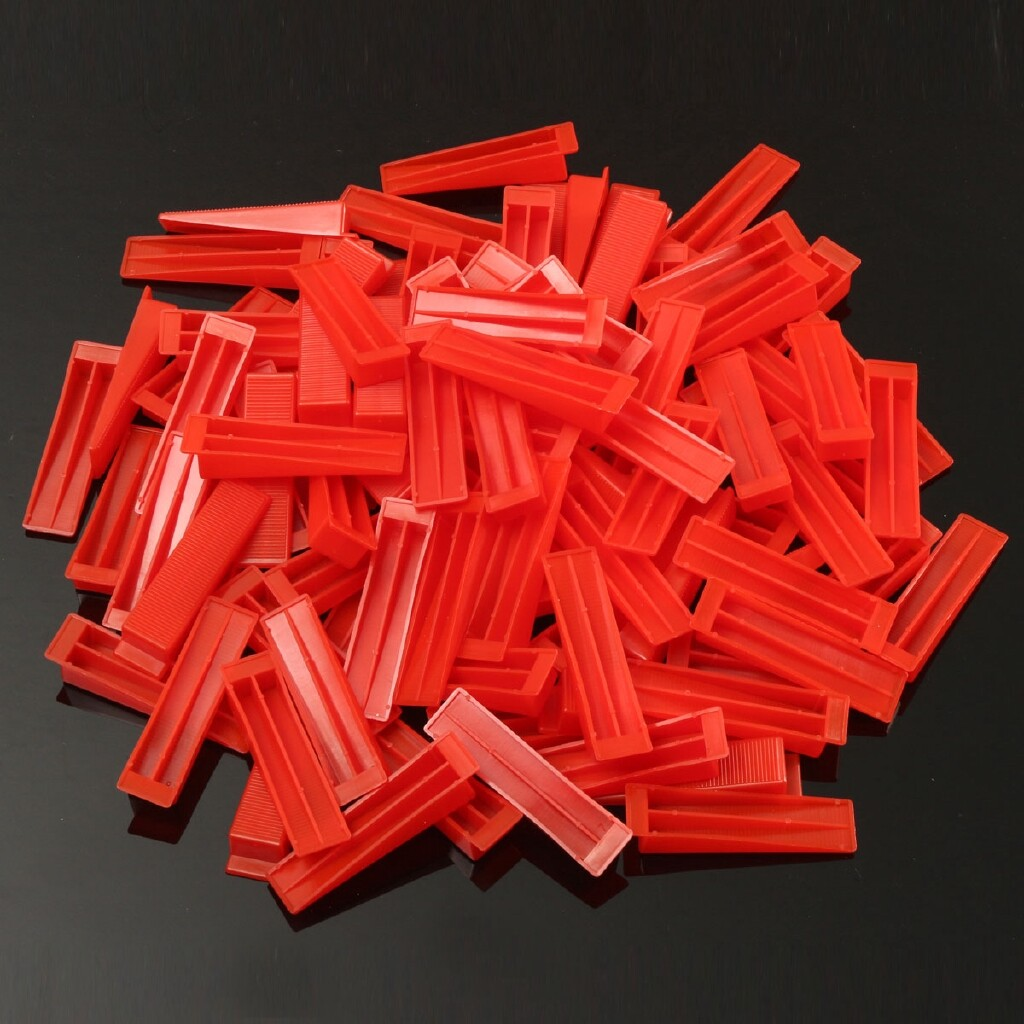 DIY Tools - 400 Tile Leveling System - 300 Clips With 100 Wedges Plastic Spacers Tiling Tool - Home Improvement