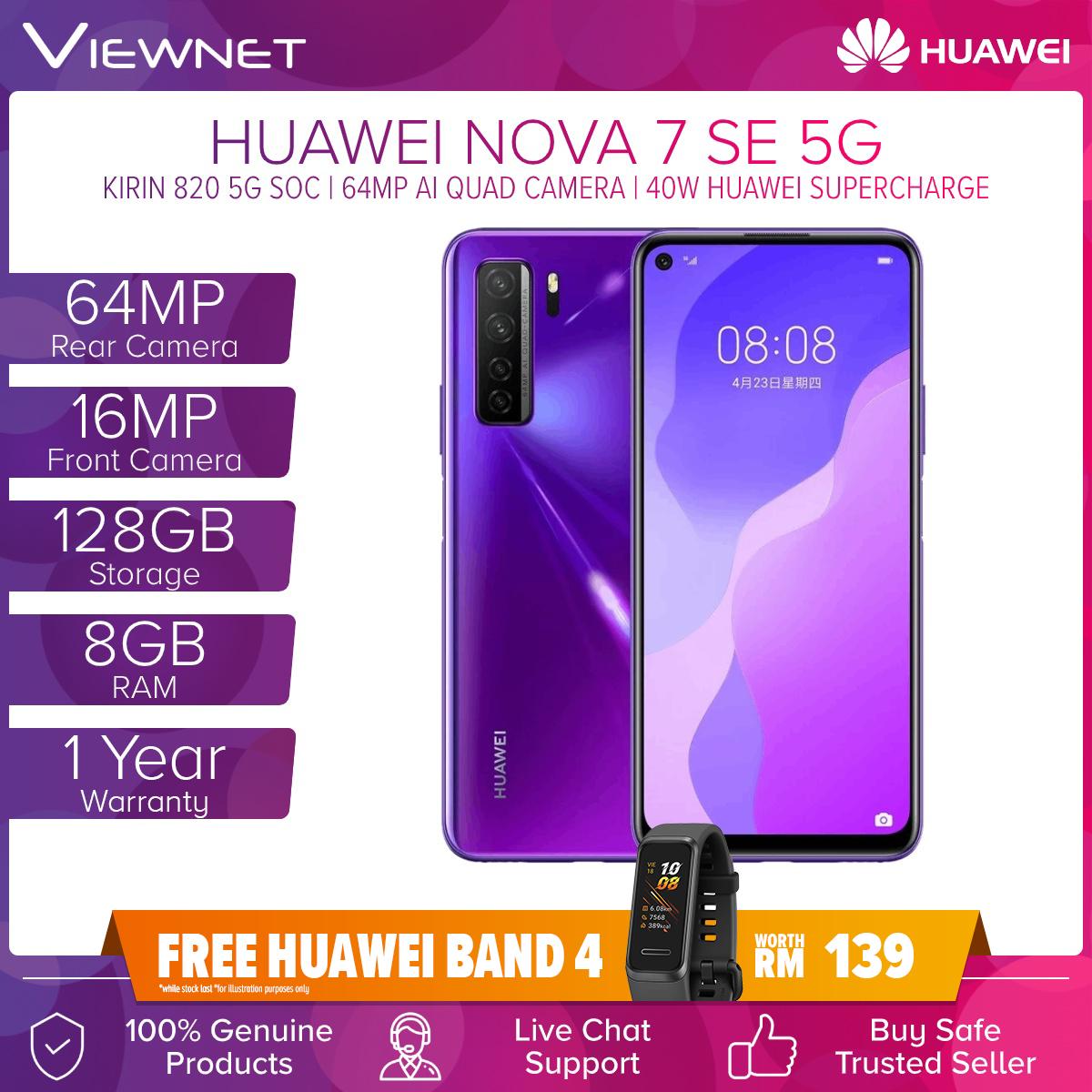 Huawei Nova 7 SE 5G Smartphone (8GB + 128GB) 6.5
