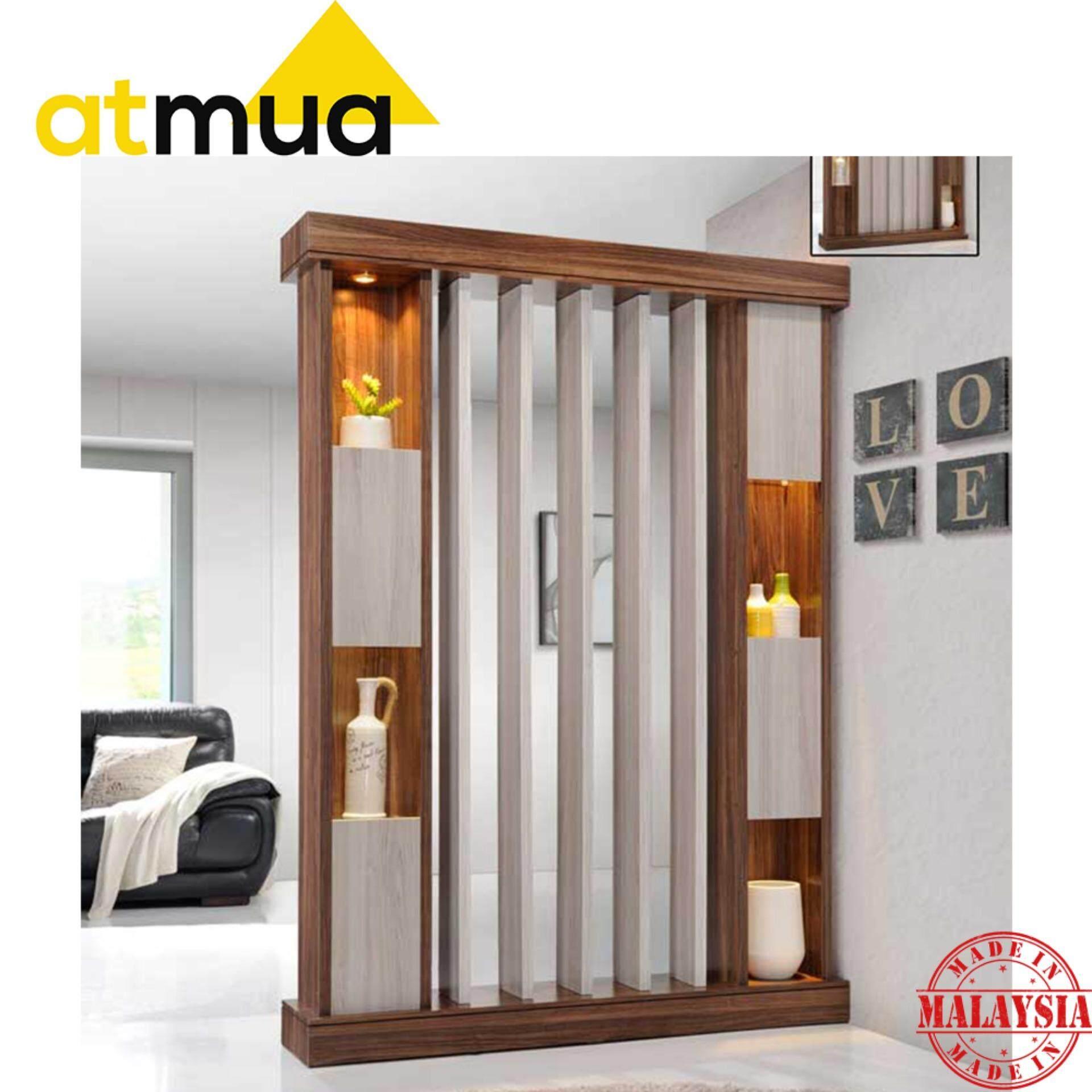 Atmua Smith Living Room Divider (5 feet) with Spotlight [Hollow MDF Board]