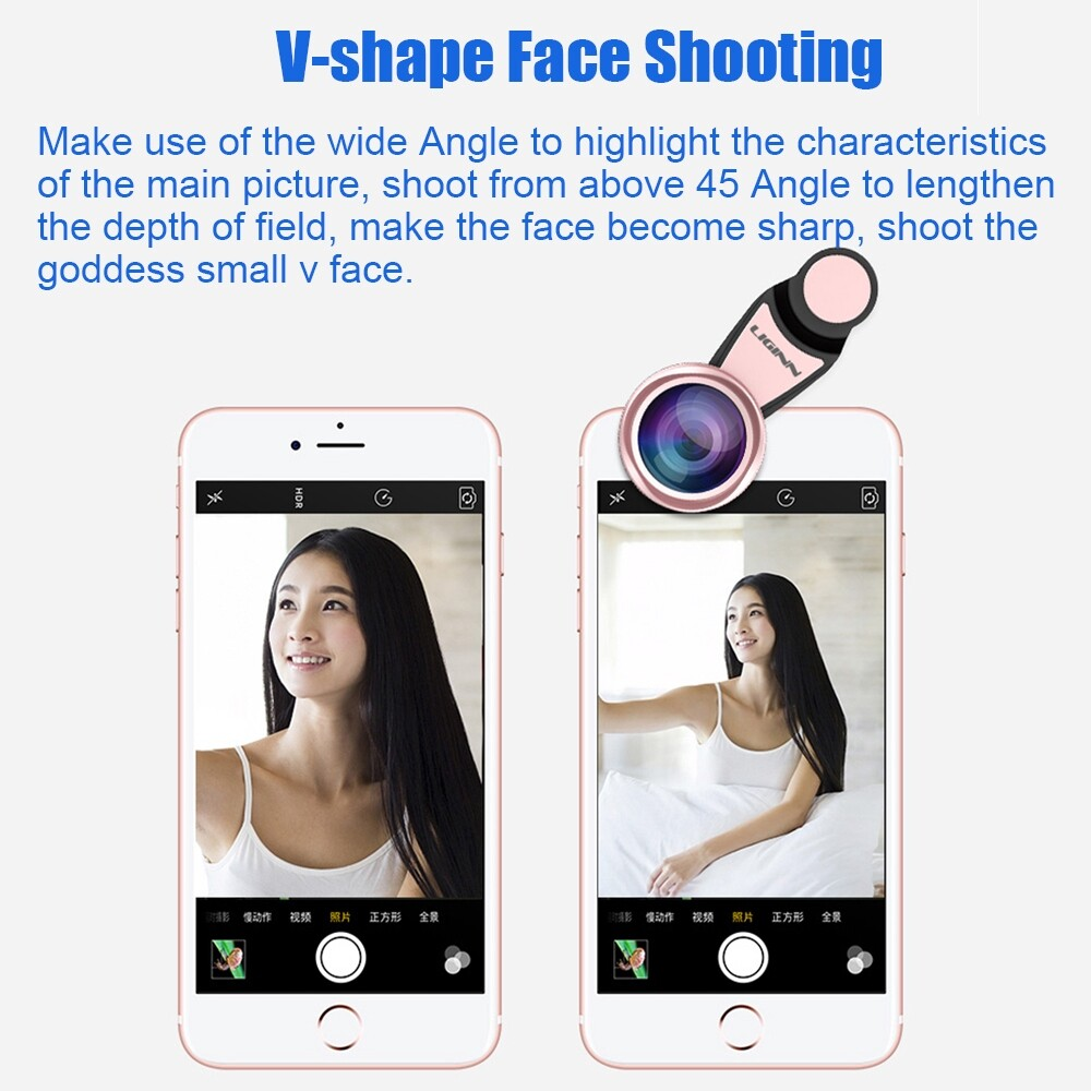 Selfie Lights - Wide Angle+15X Macro HD Phone Camera Lens For Universal Mobile Cell Phone - GOLD / RED / ROSE GOLD / BLACK