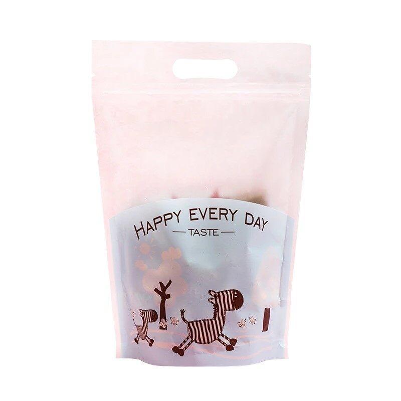 20pcs Blue Cute Zebra Plastic Bag Self Adhesive Candy Cookies Zipper Packaging Bag for Kenduri / Wedding / Birthday and Variety of Celebrations