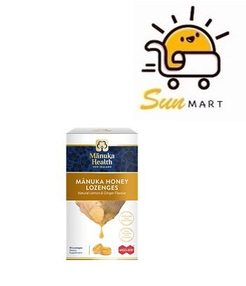 Manuka Honey Drops Ginger Lemon MGO400+ 15s