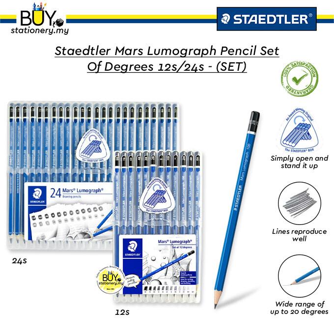 Staedtler Mars Lumograph Pencil Set Of Degrees 12s/24s - (SET)