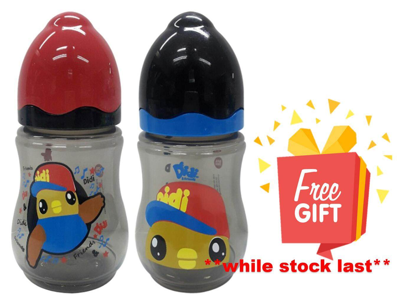 Didi & Friends Twin Pack Wide Neck Bottle 2x9oz (BPA-Free) Hot Selling
