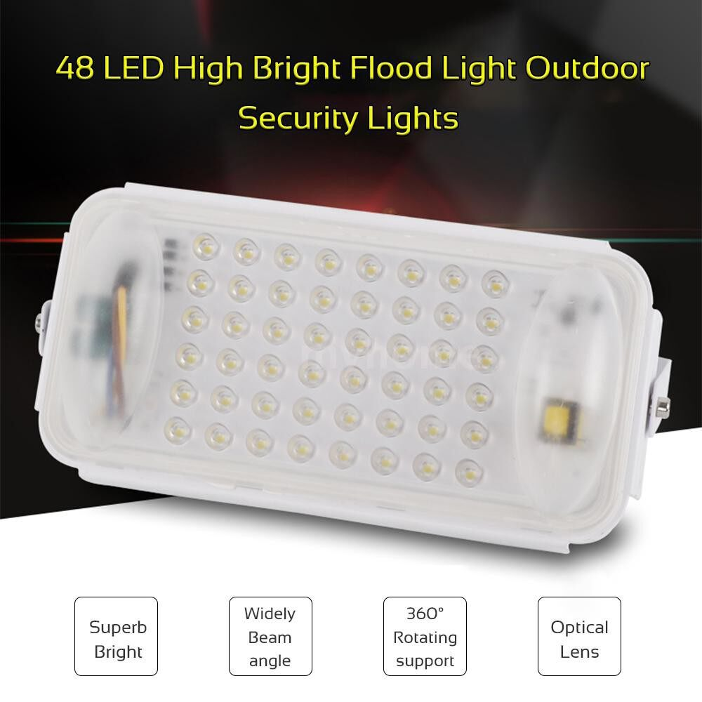Lighting - AC90-260V 50W 48LED Spliced Flood Light Project Lamp Warm White IP67 Water Resistance Outdoor - WARM WHITE-WHITE / WHITE-WHITE / WARM WHITE-BLACK / WHITE-BLACK