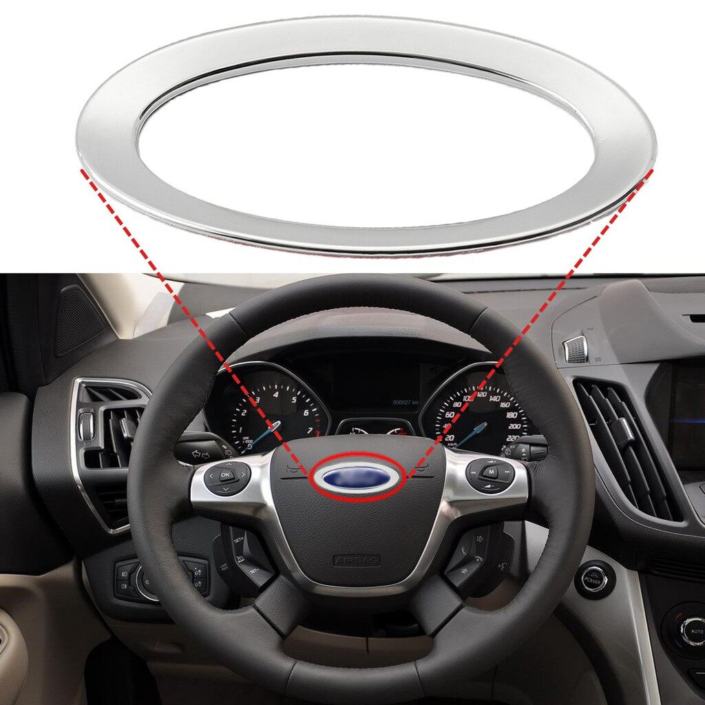 Tyres & Wheels - Steering Wheel Decoration Ring Cover Trim For Ford Focus 2 3 Fiesta Mondeo Kuga - Car Replacement Parts
