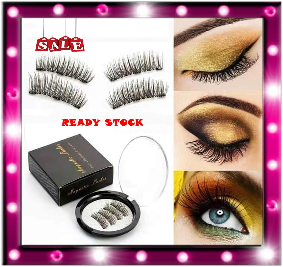 READY STOCK!!BUY 1 FREE 1MAGNETIC LASHES PROFESSIONAL EYE LASHES  3D
