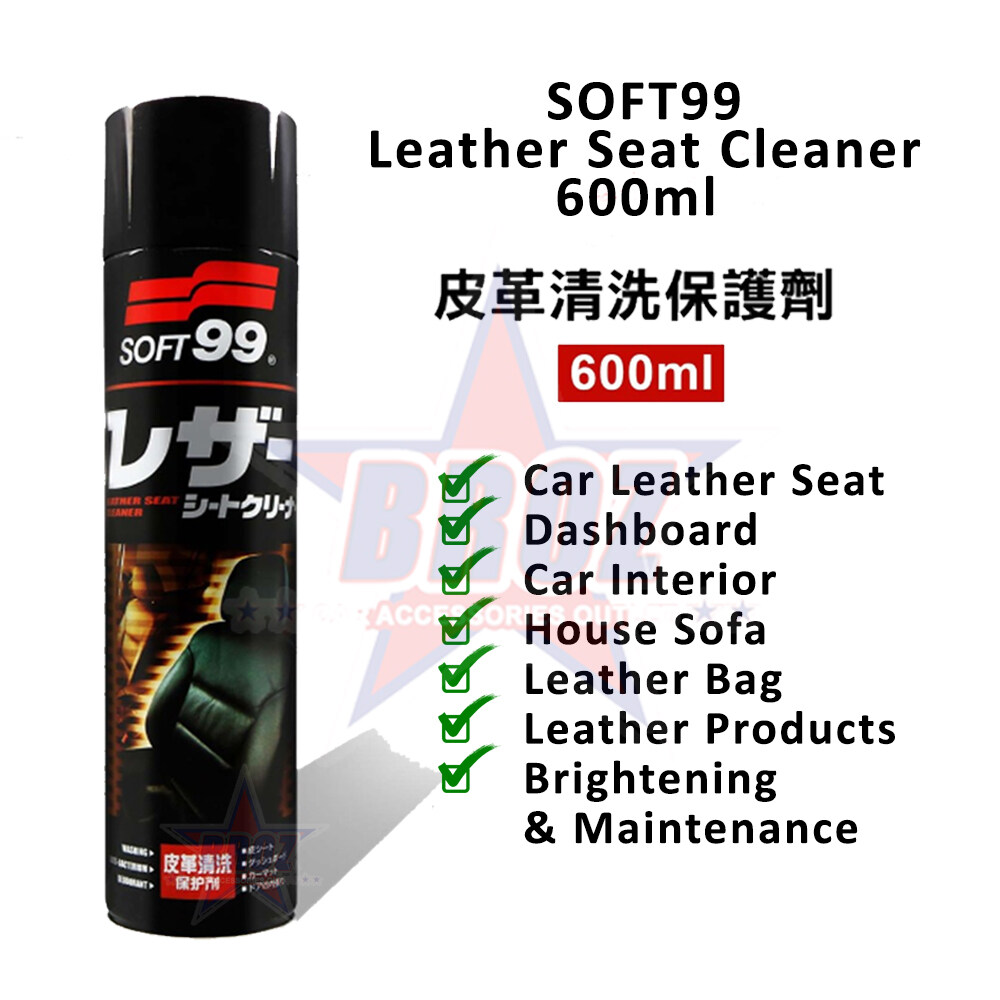 Soft 99 / Soft99 Genuine Leather Seat Cleaner Spray Foam Type - 600ml