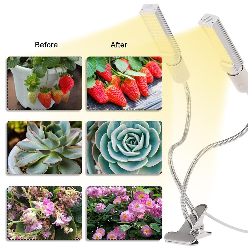 Lighting - LED Grow Light for Indoor Plant Sun-like Full Spectrum Plant Grow LED Bulb 25W E26/27 Dual-head - Home & Living