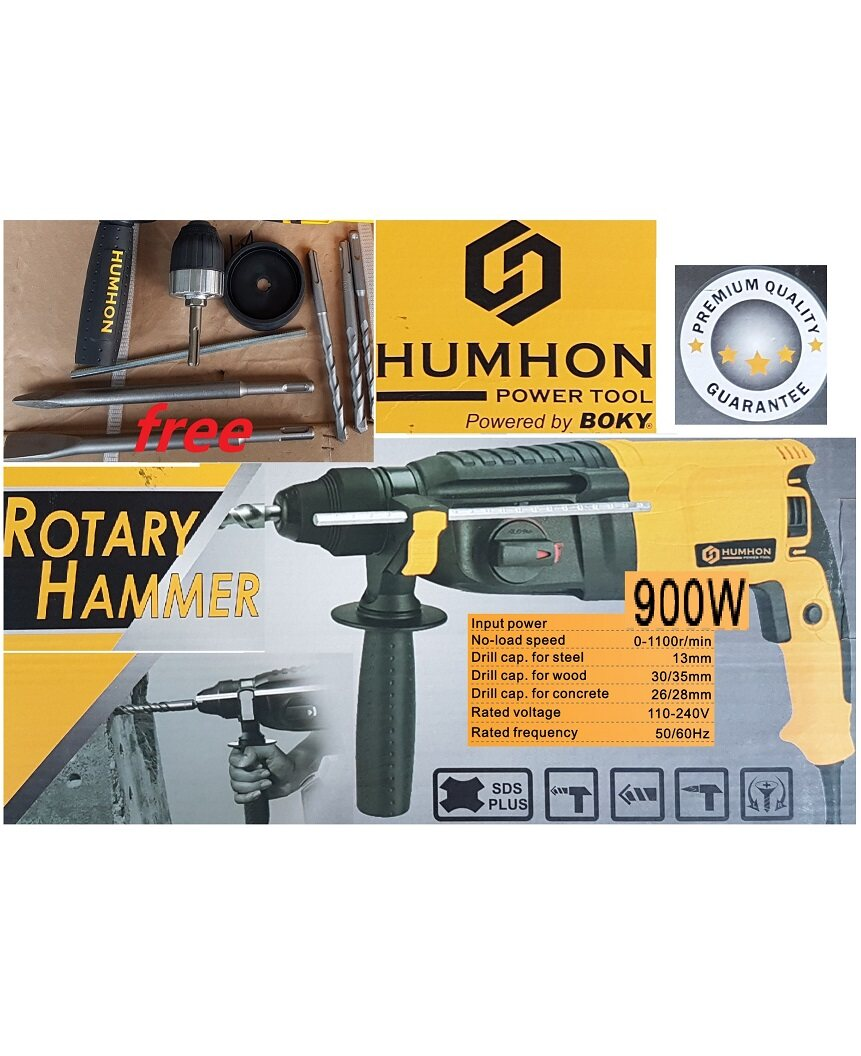 wall concrete rotary drill demolition twin hammer impact wrench power tool motor electric wire machine rock stone sand wall metal stand bit grinder set drive handle hold holder holding cut off saw cutter high press chuck chisel point star insert taper