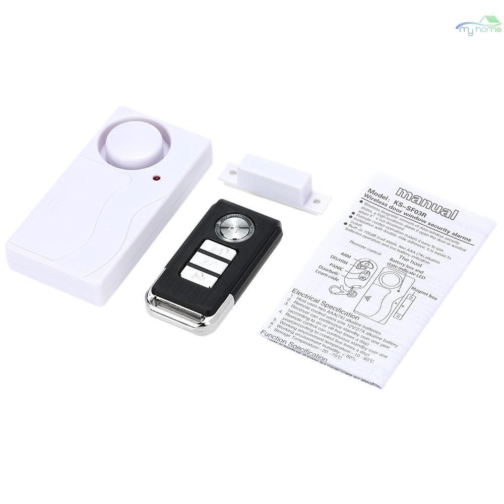 Sensors & Alarms - WIRELESS Magnetic Door Sensor Remote Control Home House Window Detector Security Alarm - #